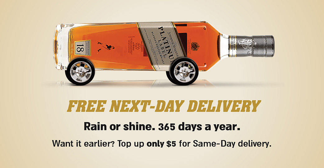 Free next day delivery small banner